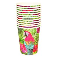 See more information about the Tropical Paper Cups Pack 12 - Parrot