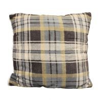 See more information about the Sherpa Fleece & Tartan Cushion 50 x 50cm Grey & Beige