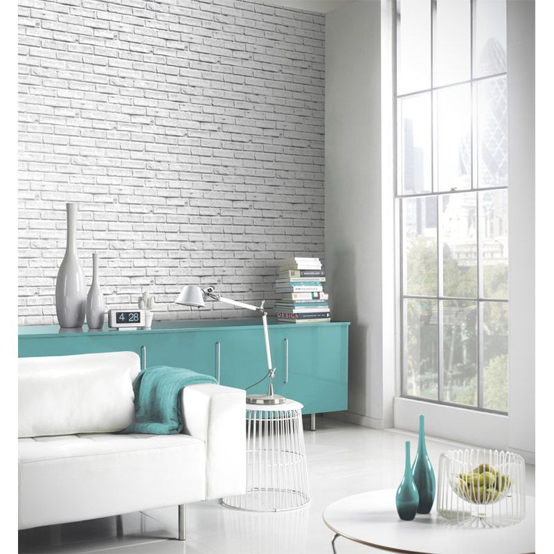 White Brick Wallpaper Buy Online At Qd Stores