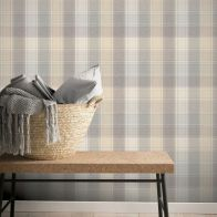 See more information about the Country Check Grey Wallpaper