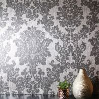 See more information about the Foil Damask Silver Wallpaper