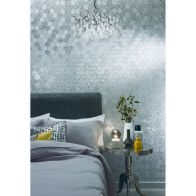 See more information about the Foil Honeycomb Silver Wallpaper