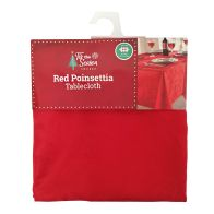 "See more information about the Red Poinsettia Tablecloth Rectangular 52"" x 90"""