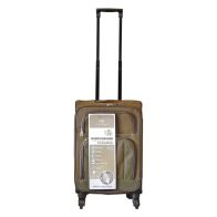 See more information about the Compass Luggage 22 Inch Trolley Brown & Green Suitcase