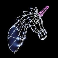 See more information about the LED White & Pink Wall Mounted Light Up 3D Unicorn Mains 47cm