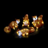 See more information about the Mini Acrylic Light Up Squirrels LED 4 Pieces