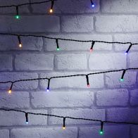 See more information about the 400 LED Multicoloured Outdoor Static String Lights LED Battery 40m