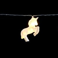 See more information about the 10 LED White Unicorn Indoor Static String Lights Battery 1.35m