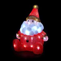 See more information about the Light Up Acrylic Santa Sitting Figure LED 33cm