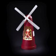 See more information about the Light Up Red Windmill Christmas Ornament With Santa LED