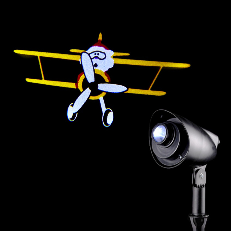 Santa Airplane Projector LED 31cm