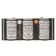 See more information about the Set Of 3 Sugar Tea Coffee Tins White