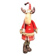 See more information about the Red & Grey Tartan Reindeer Figure Standing 28 Inch