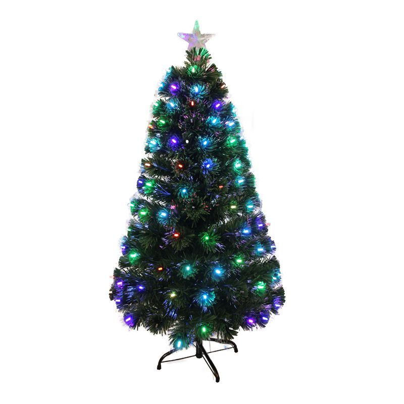 120cm (4 Foot) Dark Green Fibre Optic Classic Christmas Tree