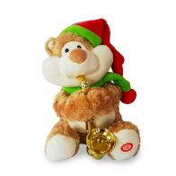 See more information about the Animated Christmas Plush Bear With Saxophone 21 Inch