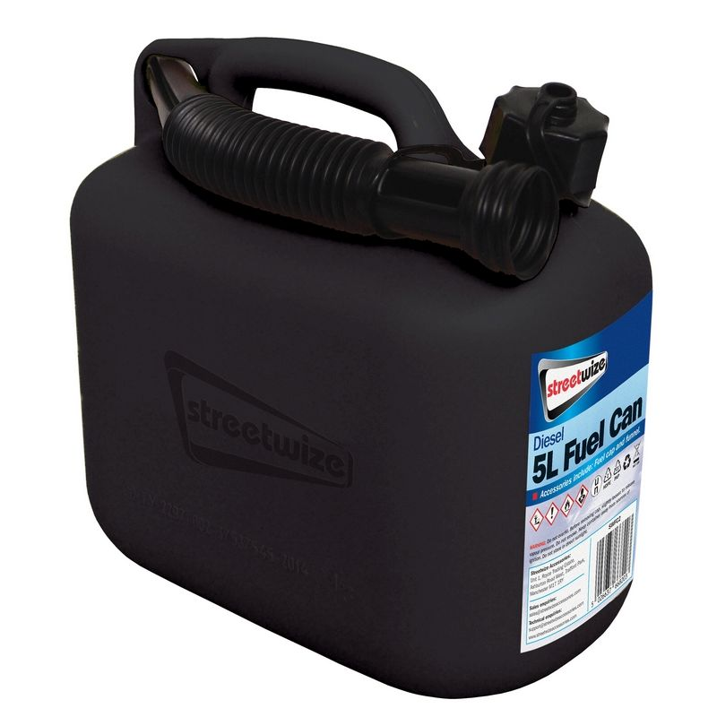 5L Black Fuel Can for Diesel