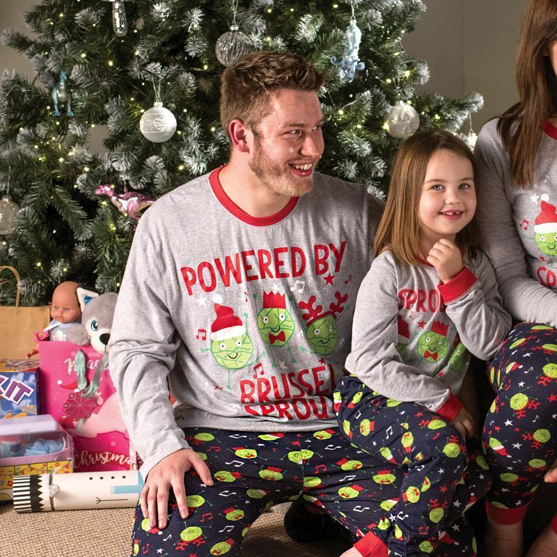 Family Christmas Pyjamas Powered By Sprouts - X-Large