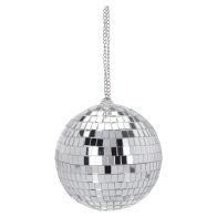 See more information about the CHECK Mirror Ball Bauble - Silver 12cm