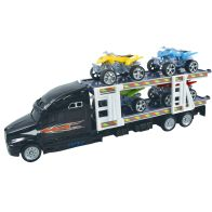 See more information about the Team Power Transporter Truck With 4 Quad Bikes Black 30cm