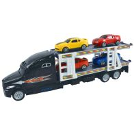 See more information about the Team Power Transporter Truck With 4 Cars Black 30cm