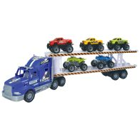 See more information about the Team Power Transporter Truck 2 Level Blue 57cm