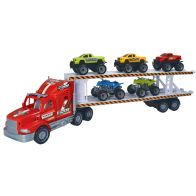 See more information about the Team Power Transporter Truck 2 Level Red 57cm