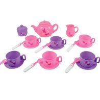 See more information about the Plastic Tea Set Pink & Purple 23 Pieces