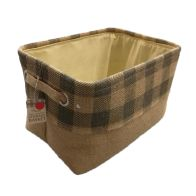 See more information about the Grey Chequered Small Storage Basket