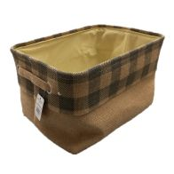See more information about the Grey Chequered Medium Storage Basket