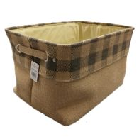 See more information about the Grey Chequered Large Storage Basket