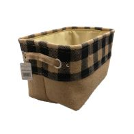 See more information about the Navy Chequered Small Storage Basket
