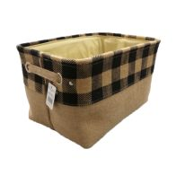 See more information about the Navy Chequered Medium Storage Basket