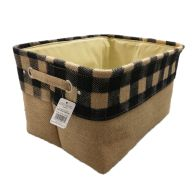 See more information about the Navy Chequered Large Storage Basket