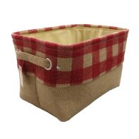 See more information about the Red Chequered Small Storage Basket
