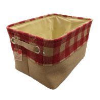 See more information about the Red Chequered Medium Storage Basket