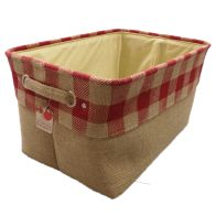 See more information about the Red Chequered Large Storage Basket