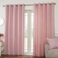 See more information about the Hamilton McBride Miami Eyelet Curtains Pink 46 x 54cm