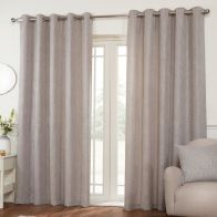 See more information about the Hamilton McBride Miami Eyelet Curtains Silver 46 x 54cm