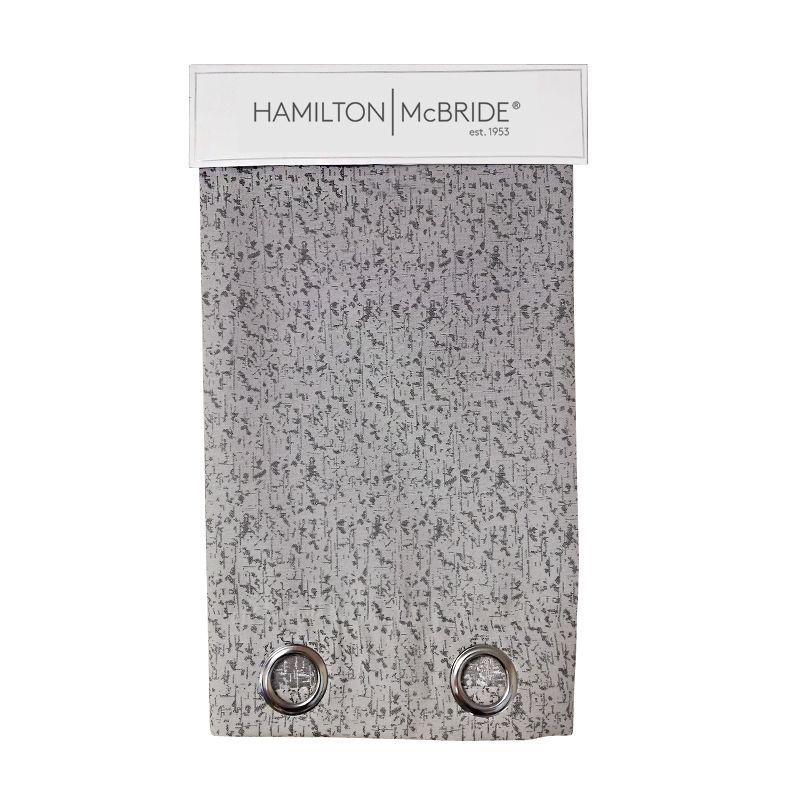Hamilton McBride Lurex Panel Curtains Charcoal 54 x 90cm
