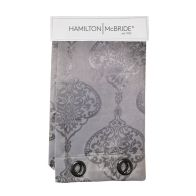 See more information about the Hamilton McBride Damask Panel Curtains Silver 54 x 90cm