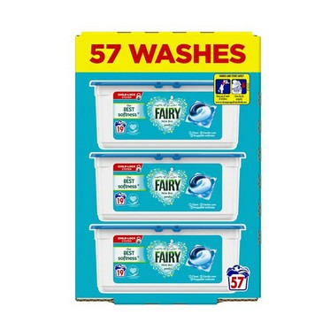 Image of Fairy Washing Capsules Non Bio 57 Washes