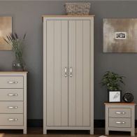 See more information about the Livingston Wardrobe Grey & Oak 2 Door
