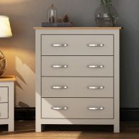 See more information about the Livingston Grey Chest Of 4 Drawers