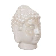 See more information about the Bloom Buddha Ornament White Iridescent