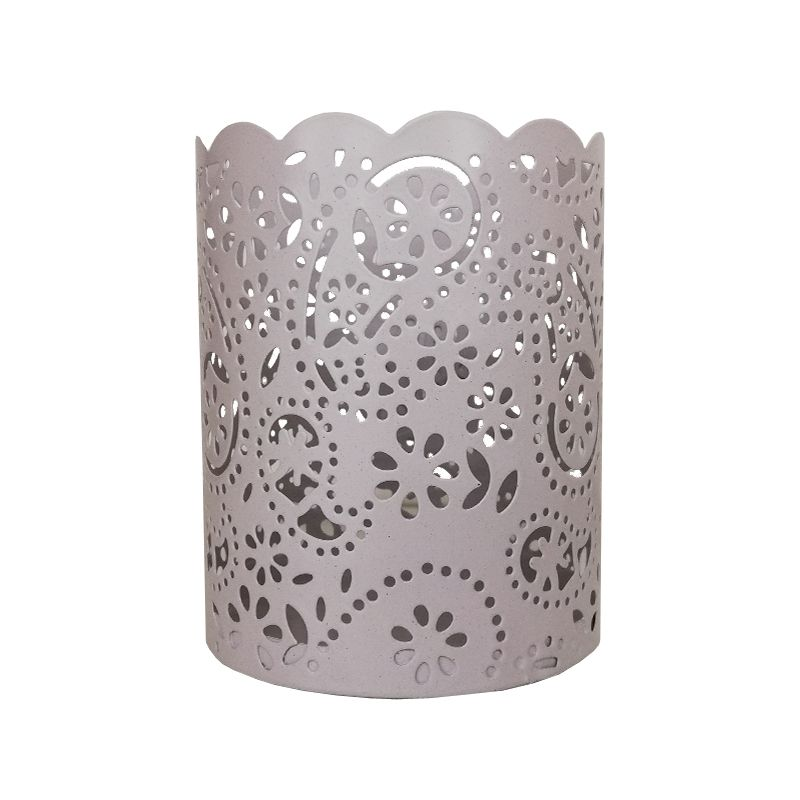 Bloom Laced Tealight Holder Silver