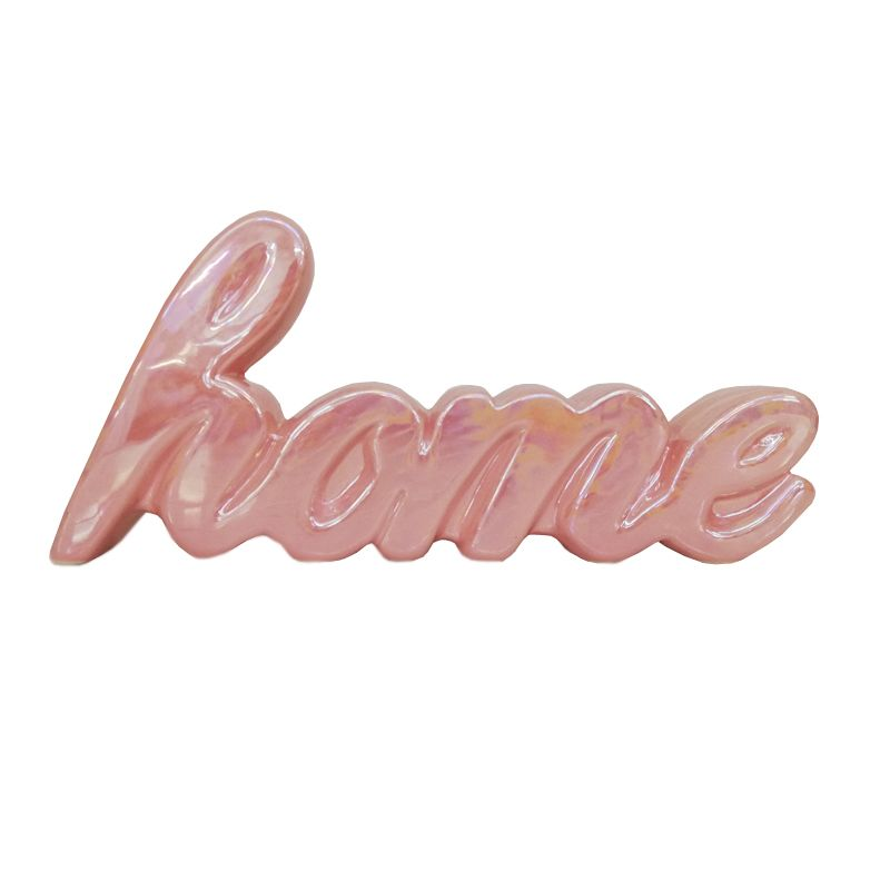 Bloom Home Ornament Pink