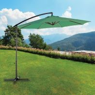 See more information about the 3M Hanging Garden Umbrella With Winding Crank - Green