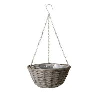 See more information about the Willow Hanging Basket Grey Washed 30cm