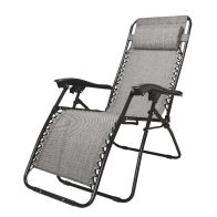 See more information about the Gavity Garden Recliner Chair Grey Loire
