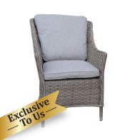See more information about the Arles Single Dining Chair - Grey Rattan